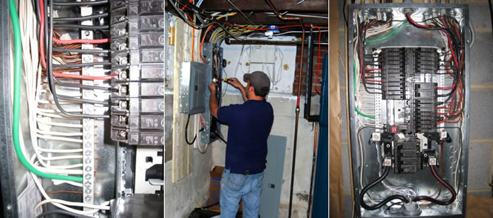 When to Replace or Upgrade Your Electrical System - Electrician Replacing A Circuit Breaker In An Electrical Panel on electrical circuit breaker panel, 150 amp circuit breaker panel, home circuit breaker panel, main circuit breaker panel,