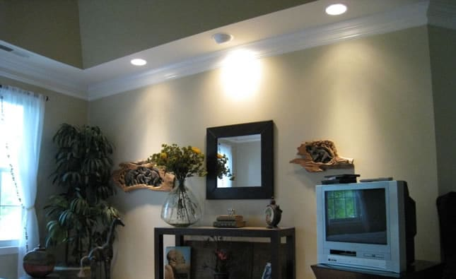 Recessed lighting installation sample